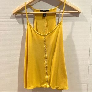 Forever21 Yellow Flowy Tank Top